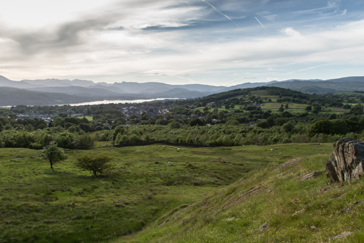 Stunning view from the top of School Knott in Windermere, The Lake District